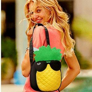 Pink Victoria's Secret pineapple cooler bag